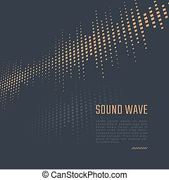 Sound wave background - Vector equalizer background. Music...