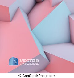 Abstract background with rose quartz and serenity cubes -...