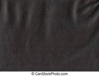Black leather texture High res scan - Closeup of black...