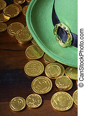 St Patricks Day hat and gold coins. - Happy St Patricks Day...