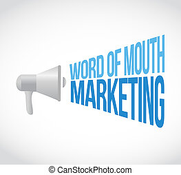 word of mouth marketing megaphone message concept