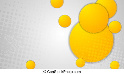 Bright orange circles video animation - Bright orange and...