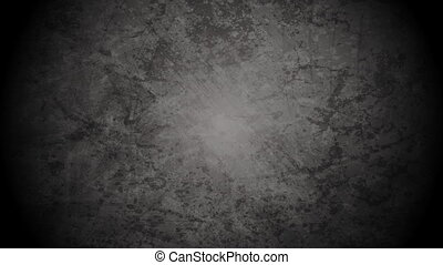 Interference on old grunge grey wall video animation -...