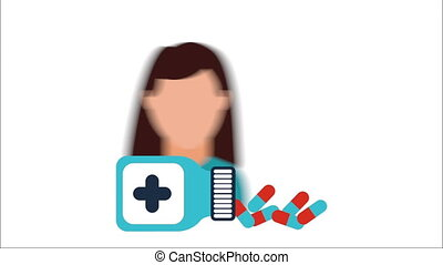 Healthcare icon design, Video Animation HD1080