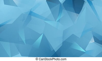 Blue tech geometric polygonal video animation - Blue tech...