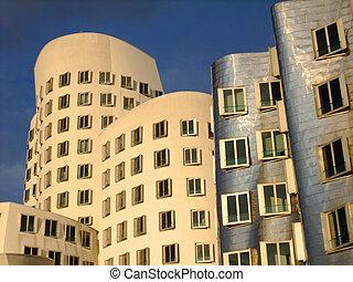 buildings in Medienhafen area at Dusseldorf - Modern...