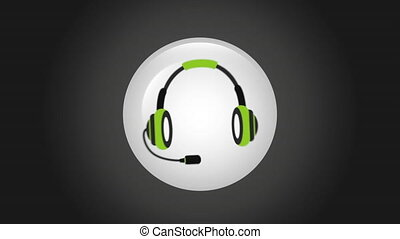 Customer support icon design, Video Animation HD1080