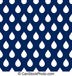 Navy Blue White Water Drops Background Vector Illustration