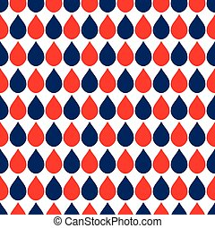 Navy Blue Red White Water Drops Background Vector...