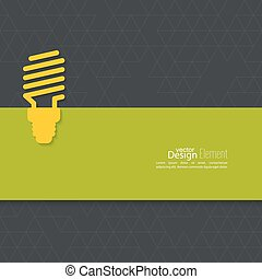 Energy saving fluorescent light bulb icon. concept of big...