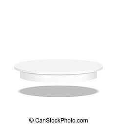 Round pedestal for display - Round floating pedestal for...
