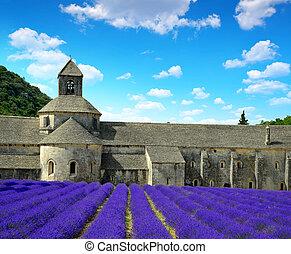 Abbaye de Senanque - France - Abbaye de Senanque with...
