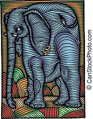 abstract elephant illustration