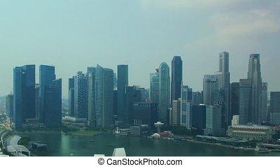 Panorama of Singapore - Panoramic time-lapss of Singapore...
