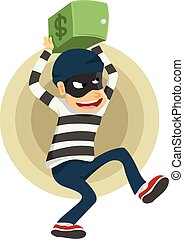 thieves run away with safe deposit - thieves run away after...