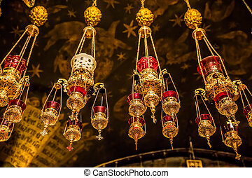 Altar of the Crucifixion in Holy Sepulchre Church - Hanging...