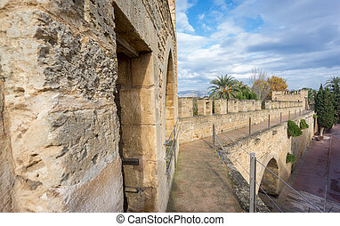 Top of the wall in Alcudia, Majorca - Walking over top of...