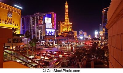 Las Vegas - Panoramic time-lapse of night Las Vegas