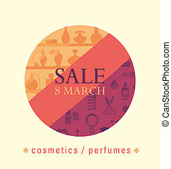 Selling the eighth of March - sale of cosmetics and perfumes...
