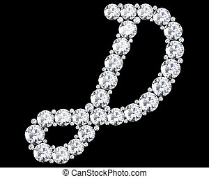 "A stunning beautiful ""D"" set in diamonds. V. 9"