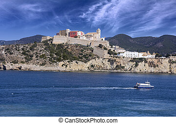Ibiza Eivissa town in Balearic Islands Spain
