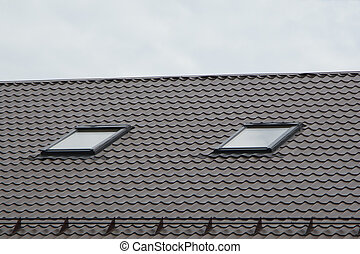 Tile roof house structure building home exterior