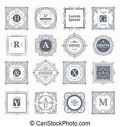 Monogram luxury elements - Monogram luxury logo template...