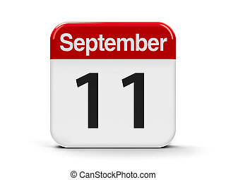 11th September - Calendar web button - The eleventh of...