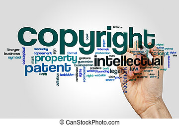 Copyright word cloud concept - Copyright word cloud