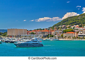 Adriatic coast in Split yachting destination, Dalmatia,...