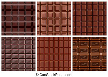 set of seamless pattern with chocolate texture - stone;...