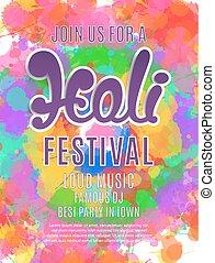 Holi festival poster template. - Holi festival poster....