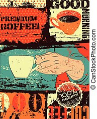 Coffee typographical vintage style