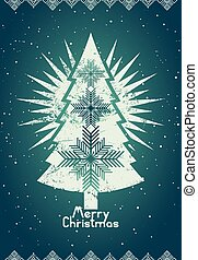 Typographical retro Christmas card design Grunge vector...