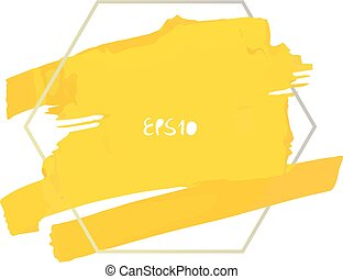 Vector painted background - Vector splash in a polygonal...