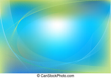 Blue and Green Abstract Background - Blue and Green Dynamic...