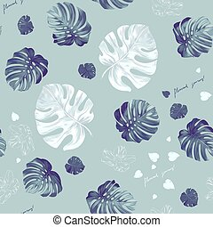 Tropic seamless pattern - Seamless pattern of leaves...