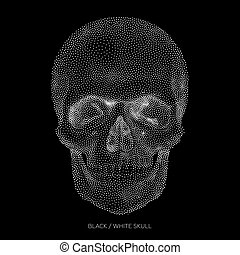 Skull 01 - Stylized Bony skeleton of the face and the...