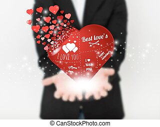 Abstract concept vector image of man with heart. For Web and Mobile  isolated on background, vector art illustration template design, Business infographic and social media, iIllustration template