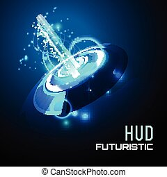 Futuristic interface background HUD,  vector