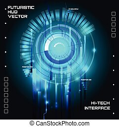 Futuristic interface, HUD,  sci-fi  vector
