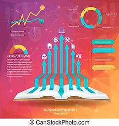 Abstract creative concept vector siluet hands of icons For...