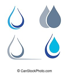 four characters in the form of drops