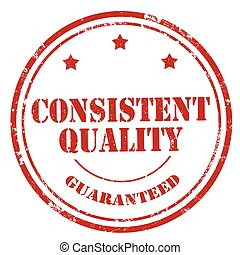 Consistent Quality-stamp - Grunge rubber stamp with text...