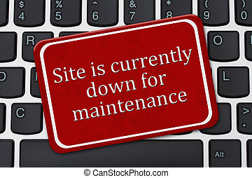 Site is currently down for maintenance Sign - Site is...