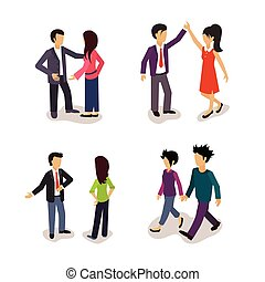 Ordinary People. Everyday Actions. Vector Illustartion Set....