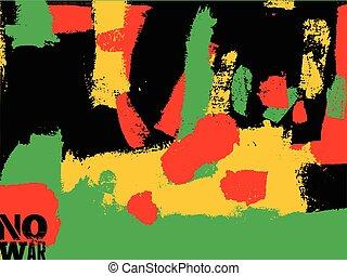 No war poster. Abstract expressive