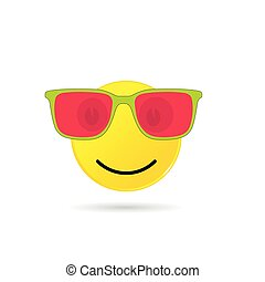 smiley with sunglasses illustration