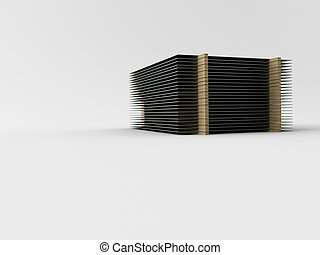 Steel plate - 3d made steel plate on white background