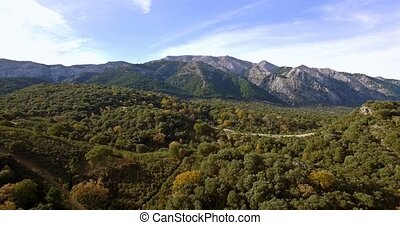 4K, Luftaufnahmen, Andalusian, Landschaften, Spanien,